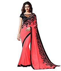 khanak export Women's Georgette Saree(KE_10_Multi-Coloured_Free Size)