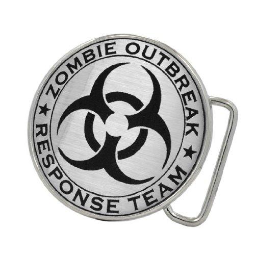 Zombie Outbreak Response Team Brushed Aluminum Belt Buckle