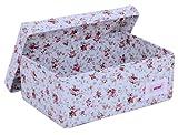 Minene - Caja tamaño pequeño, estampado de flores, color azul