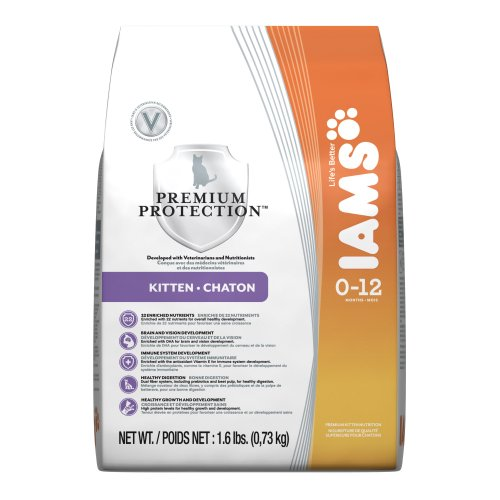 See Iams Premium Protection Cat Food, Kitten (0-12 Months), 1.6-Pound Bag