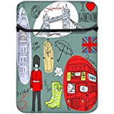 Snoogg London Doodles 12 Inch Laptop Case Flip Sleeve Bag Computer Cover