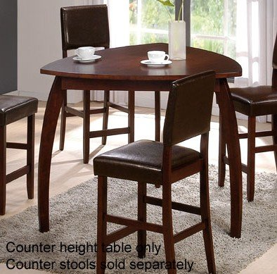 Counter Height Dining Table with Triangular Top in Cherry Finish