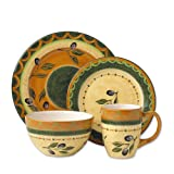 Pfaltzgraff Everyday Tuscan Olive 16-Piece Dinnerware Set Service for 4