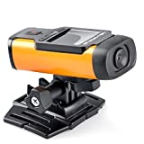 Sumsonic S300 Extreme Edition Wide Angle Full HD 1080p 140 Degree Wide Angle Waterproof Sports Diving Action Video Camera with Full Mounting Kit Included (S300 Orange)