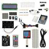 SainSmart UNO R3 Starter Kit With 19 Basic Arduino Tutorial Projects for Beginners (1602 LCD & Prototype Shield & Keyboard included)
