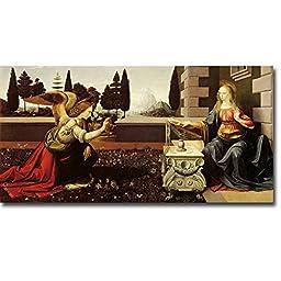 Annunciation by Leonardo da Vinci Premium Oversize Gallery Wrapped Canvas Giclee Art (Ready to Hang)
