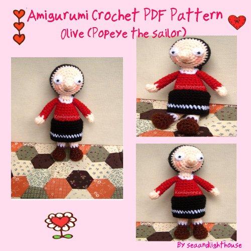 Olive Amigugumi crochet pattern