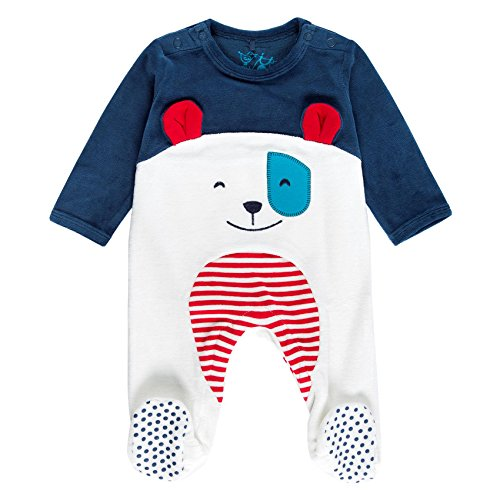 Boboli Velour Play Suit For Baby, Body Bimba, Blau (Indigo 2332), 9 mesi