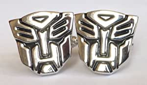 Super Hero Transformer Optimus Prime Black And Silver Cuff Links Cufflinks