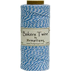 Hemptique Baker's Twine Spool, Blue and White