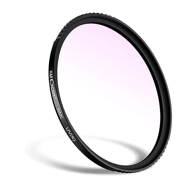 K&F Concept 58mm MC UV Protection Filter Slim Frame with Multi-Resistant Coating for Camera Lens (Tamaño: 58mm)