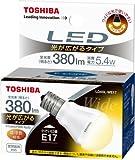 TOSHIBA E-CORE(イー・コア) LED電球(光が広がるタイプ・密閉器具対応・フィンレス構造・E17口金・ミニクリプトン電球形・小形電球50W相当・380ルーメン・電球色) LDA5L-WE17