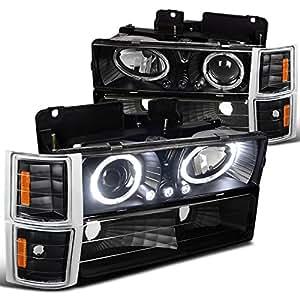 Amazon.com: Chevy C10 CK Tahoe Silverado Halo LED Black Projector