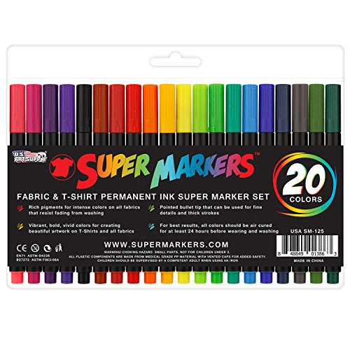 super-markers-20-color-premium-fabric-t-shirt-marker-set-with-our-unique-fine-tip-bullet-point-tip-1