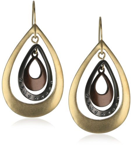Kenneth Cole New York Tri-Tone Orbital Drop Earrings