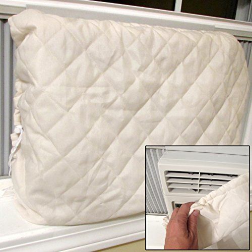 Evelots Indoor Air Conditioner Cover, Keep Air Conditioner Clean, Beige (Winter Cover Air Conditioner compare prices)