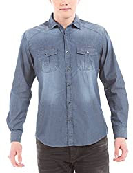 Shuffle Men's Casual Shirt (8907423013148_2021535501_Large_Indigo)