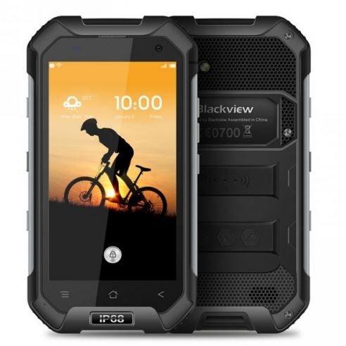 Blackview BV6000 - IP68 Android 6.0 Smartphone Impermeable Antipolvo Antigolpes 3GB de RAM + 32GB con 2,0 GHz 4,7 pulgadas Gorilla Glass 3 negro