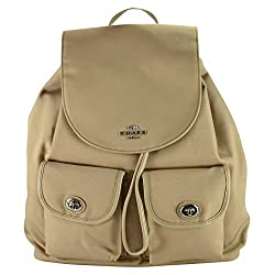 Coach Nylon Turnlock Pocket Flap Backpack 35503 Putty
