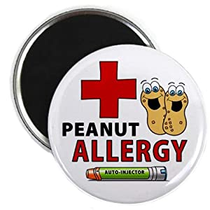 PEANUT ALLERGY Green EpiPen Medical Alert 2.25 inch Fridge Magnet from Creative Clam
