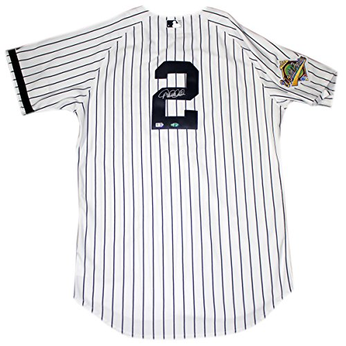 Derek Jeter Signed New York Yankees Authentic Pinstripe Jersey W/ 1996 Patch ( Mlb Auth) front-845271