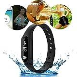ELEGIANT C6 Bluetooth4.0 スマートブレスレット 歩数計 心拍数モニター 時計 健康 多機能 着信番号表示