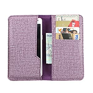 DooDa PU Leather Pouch Case Cover With Card / ID Slots For iBall Andi 4.7G Cobalt