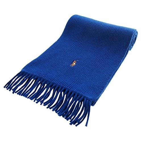 Ralph Lauren (ポロラルフローレン ) マフラー メリノウール スカーフ MERINO WOOL SCARF ブルー 510033295924 [並行輸入]