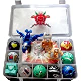 TL 9 Bakugan Toy All Different + 9 Metal Cards with Bakucase for Great Gift and Collection New