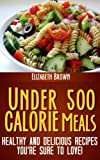 Under 500 Calorie Meals; Healthy and Delicious Recipes You're Sure To Love!