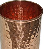 Handmade Pure Copper Hammered Tumbler Glass