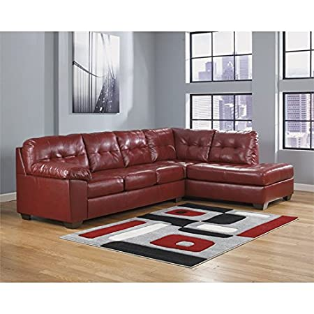 Ashley Alliston DuraBlend 2 Piece Right Corner Sectional in Salsa