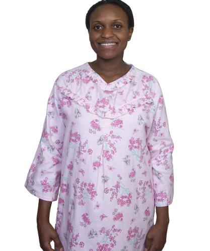 Flannel Adaptive Hospital Nightgown