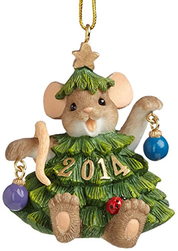 Enesco Charming Tails Gift 2014 Dated Ornament, 2.125-Inch