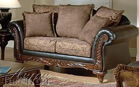 ACME 50336 Fairfax Loveseat with Chocolate/Raisin Finish