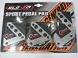 Elevo - Jet Black Racing Pedal Covers Manual , Pedal Set in Automotive