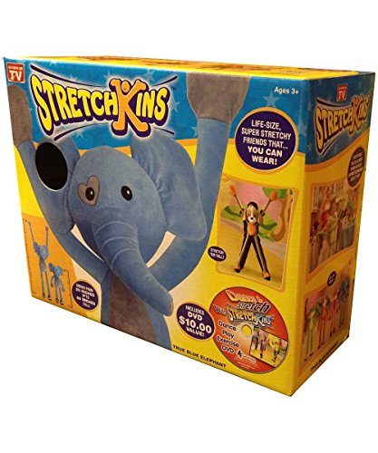 Stretchkins Elephant Life-size Plush Toy That You Can Play, Dance, Exercise and Have Fun With