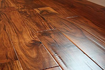 "Elk Mountain Acacia Parchment 9/16"" x 4-3/4""Hand Scraped Engineered Hardwood Flooring AF022 SAMPLE"