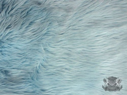 Faux / Fake Fur Shaggy LIGHT BLUE Fabric By the Yard (Light Blue Faux Fur compare prices)