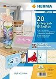 Herma 12904 Home Universal-Etiketten 20 Stück weiß