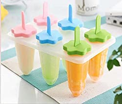 EZ Life - Ice Popsicle & Kulfi Maker Tray - Star Shape - 6 Pops - Foodgrade Plastic - Tableware