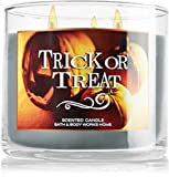 Bath & Body Works Halloween Trick or Treat candle 3 wick 14.5 oz toasted marshmallow smoldering woods and vanilla bean 2014 scent