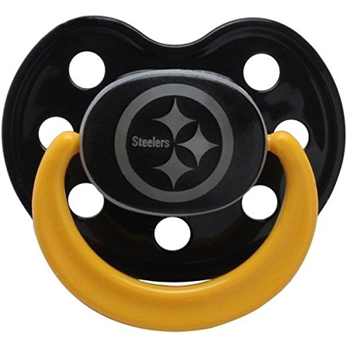 Baby Fanatic Pacifier - Glow In The Dark (2 Pack) - Pittsburgh Steelers at Steeler Mania