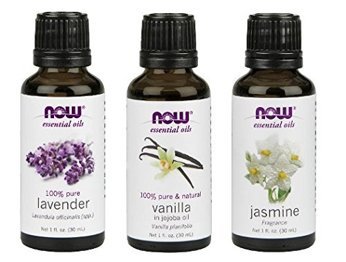 3-Pack Variety of NOW Essential Oils: Relaxing Blend - Jasmine, Vanilla, Lavender