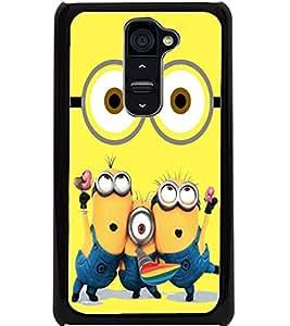 ColourCraft Cartoon Design Back Case Cover for LG G2