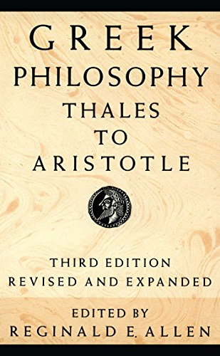 Greek Philosophy: Thales to Aristotle (Readings in the History of Philosophy)