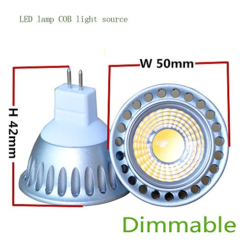 Lot Of 2 Pcs 3W Dimmable Cob Led Light Bulbs - 6000K Warm White Led Spotlights 30W Equivalent - 280Lm 35 Degree Beam Angle For Landscape Scene Home Lighting And Architectural Lighting Dimension:50*H91Mm