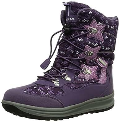 Geox J Roby B Girl Abx, Bottes de neige fille Violet (Violetc8015