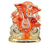 Ratna Handicrafts Ganesha idol (5.5x4.5 cm ,orange)