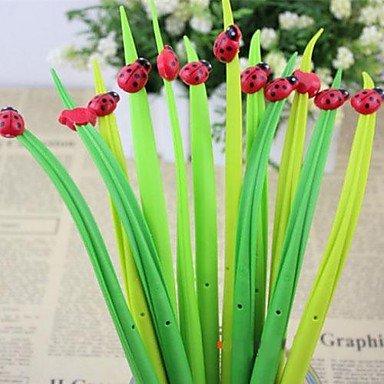 LWW Silicona Negro Señora escarabajo hierba Diseño Soft Gel Ink Pen